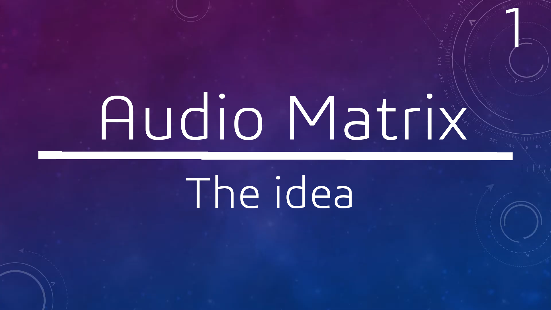 AudioMatrix Part1: The Idea